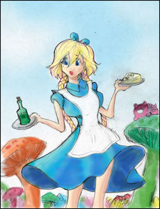 Owen Giene's Cecania as Alice in Wonderland