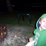Mason learning all about roasing marshmallows
