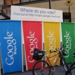 Google Sponsored Voting Location Finder Booth Thingy