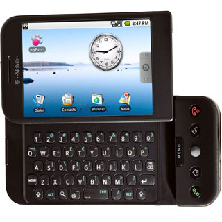 G1, the first Android phone, from T-Mobile