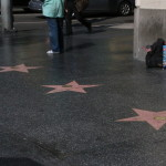 A few stars on Hollywood Boulevard.