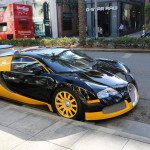 Bijan's $2 Million Black & Yellow Bugatti Veyron On Rodeo Drive