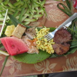 Woven grass plates