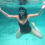 Amy posing underwater