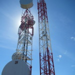 The tv/cellular/radio tower for the island