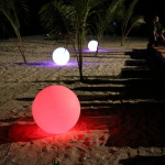 Ball lights on the beach
